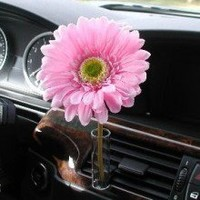 Auto Vase Girly Pink Daisy Flower Car Accessory