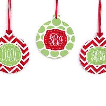 Monogram Christmas Ornaments - Design your Own Holiday Ornament
