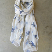 Wild Horses Scarf [3933] - $21.00 : Vintage Inspired Clothing & Affordable Fall Frocks, deloom | Modern. Vintage. Crafted.