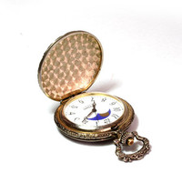 Railroad flip watch, Vintage pocket watch