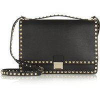 Valentino | The Rockstud Flap leather shoulder bag | NET-A-PORTER.COM