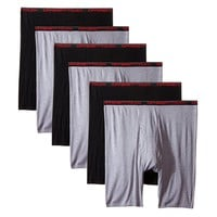 6 Men's Big & Tall USA Classic Design Long Legs Boxer Briefs Underwear