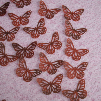 25 MONARCH BUTTERFLY Punch Die Cuts, Vellum,Scrapbook Embellishment,Altered Art Supplies,Wedding Invitations,Favors,Card Making