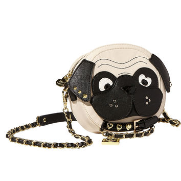BETSEY JOHNSON Pug Crossbody Bag