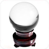 Amlong Crystal Clear Crystal Ball 110mm (4.2 in.) Including Wooden Stand