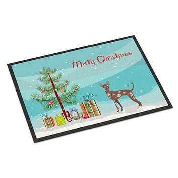 Mexican Hairless Dog Christmas Tree Indoor or Outdoor Mat 18x27 CK3473MAT