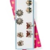 Flora Crystal Stud Set of 4