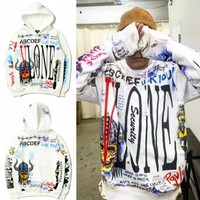 ONETOW VLONE Casual Long-Sleeved Hooded Sweater
