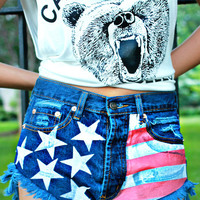 Lady Liberty High Rise Shorts