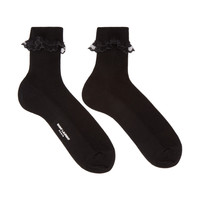 Black Lace Trim Socks