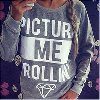 2014 Women Hoody Spring Autumn Long Sleeve Letter Print Sweatshirt Women Casual Hoodies plus size womenLJ155QAF = 1931880324