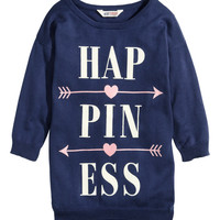 H&M - Fine-knit Sweater - Dark blue - Kids