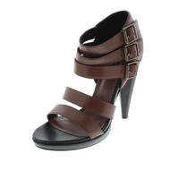 Diesel Black Gold Womens Navajo Girl Pocah Leather Heels Strappy Sandals