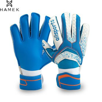 Kids Men Professional Goalkeeper Gloves Finger Save Protection Thickened Latex Soccer Football Goalie Gloves Goal keeper Gloves