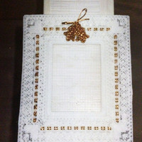 Wedding or Anniversary Frame in Plastic Canvas