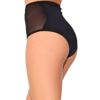 Electro High Waisted Mesh Booty Shorts