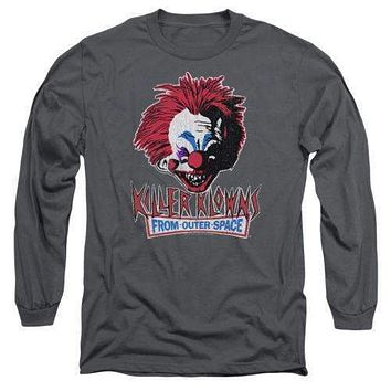 Killer Klowns From Outer Space Rough Clown Mens Long Sleeve T-Shirt