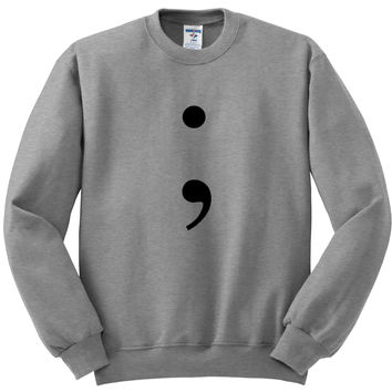 "13 Reasons Why ""Semicolon"" Crewneck Sweatshirt"