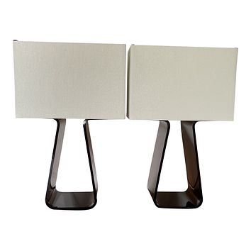 "Pablo Designs Tube Top 14"" Table Lamps"