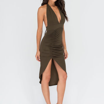 Picture Perfect Plunging High-Low Dress GoJane.com