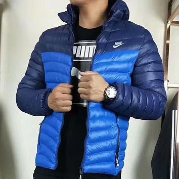 Nike Men Fashion Casual Zip Hooded Cardigan Jacket Coat