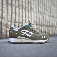 "Asics WMNS Gel Lyte III ""Patchwork"" - Light Olive / White"