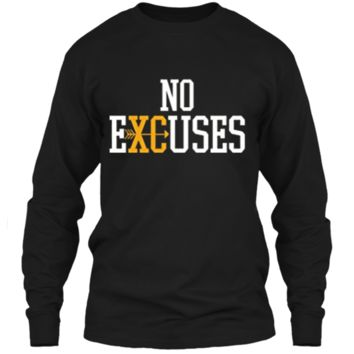 No Excuses Cross Country Track And Field Running T-Shirt LS Ultra Cotton Tshirt