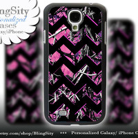 Camo Black Chevron Samsung Galaxy S4 S5 case Hot Pink Purple Galaxy S3 Case / Note 2 3 Case real tree Monogram Personalized  Country Girl