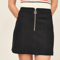 Bubble Knit A-Line Skirt