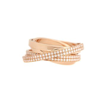Berbere Technical 18kt rose gold ring with diamonds
