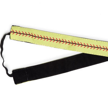 "Yellow Softball - Original 1"" Headband"