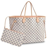 Leather House Ladies Shopper Checkered Handbag Women Top Handle Designer Party Tote bag