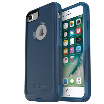 OtterBox COMMUTER SERIES Case for iPhone 8 & iPhone 7 (NOT Plus) - Frustration Free Packaging - BESPOKE WAY (BLAZER BLUE/STORMY SEAS BLUE)