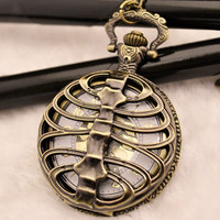 Steampunk Skeleton  Pocket Watch Pendant 264119 by peahenLee