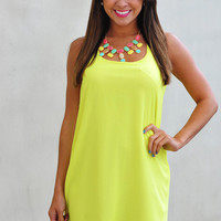 Dreaming Of You Dress: Neon Chartreuse | Hope's