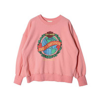 Oversize Long Sleeve Print Hoodies Pullovers