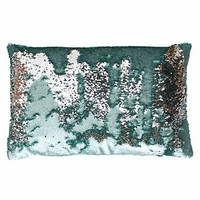 Thro by Marlo Lorenz Melody Mermaid Sequin Oblong Throw Pillow | null