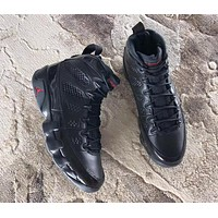 Air Jordan 9 Retro Bred Black/Anthracite-University Red AJ9 Sneakers