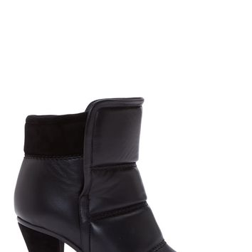 Chlo Black Quilted Leather Ankle Boots