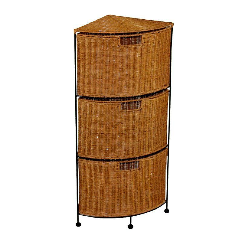 3 drawer wicker corner storage unit from kohl 39 s. Black Bedroom Furniture Sets. Home Design Ideas
