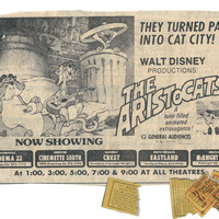 The Aristocats Original Movie Ad Collage Print