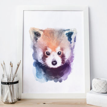 Raccoon print, raccoon decor, raccoon Watercolor raccoon nursery raccoon Painting raccoon Wall Art raccoon woodland nursery animal Printable