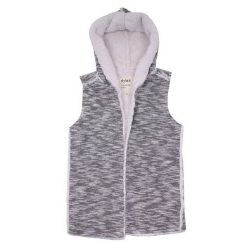 Tweed Sherpa Vest in Black and White by True Grit (Dylan) - FINAL SALE