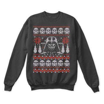 AUGUAU The Dark Side Of The Christmas Darth Vader Star Wars Ugly Sweater