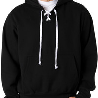 weatherproof adult hockey hooded sweatshirt - black (m)