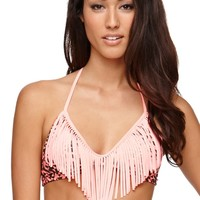 Eidon Flare Naomi Top - Womens Swimwear - Peach -