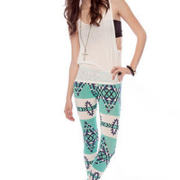 Native Leggings in Aqua :: tobi
