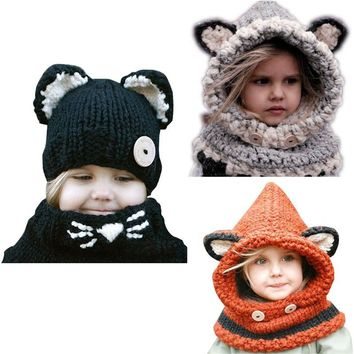 Baby Knitted Fox Ear Hat
