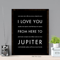 I Love You From Here To JUPITER art print