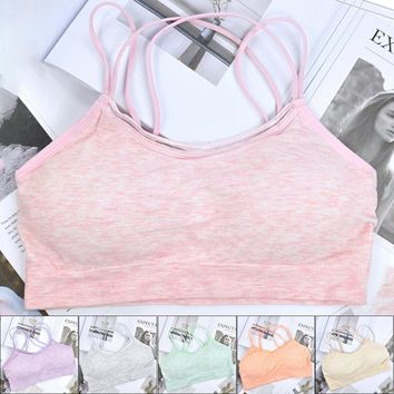 6113921405aad Woman Sports Bra Push Up Active Wear Tops For Women Gym Pink Bra